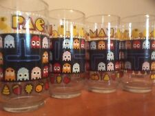 1980 Vintage Pac Man Drinking Glass  Bally Midway 12  oz set of 4