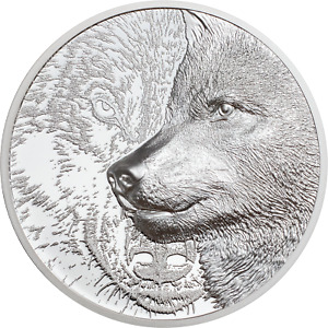 500 Togrog Mystic Wolf Ultra High Relief Mongolei 1 oz Silber 2021