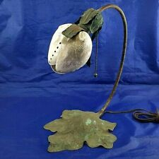 ARTS & CRAFTS SHELL SHADE COPPER LAMP Elizabeth Eaton Burton Style Lamp