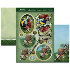 sports & leisure time designer decoupage set on the green & gone fishing