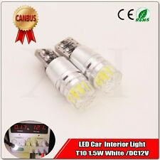 10x White T10 W16W COB 1 SMD Canbus ERROR FREE LED Car Parking Bulbs Side Lights