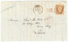 France cover - 1862 Lille to London (UK)