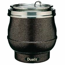 More details for dualit hotpot soup kettle in rustic brown aluminium - 11l - 340mm