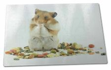 Lunch Box Hamster Extra Large Toughened Glass Cutting, Chopping Board, HAM-1GCBL