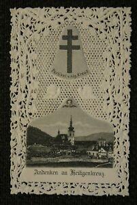 Andachtsbild / Spitzenbild  HEILIGENKREUZ ; Wallfahrt -  holy card , santino