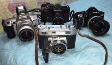 Vintage Camera Lot: Kodak Retina Iiic Mamiya/Sekor 1000Dtl Minolta Qtsi & 3000i