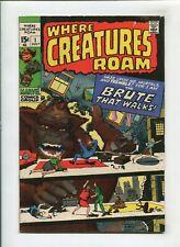 WHERE CREATURES ROAM #1 (4.5) DITTO, KIRBY BIGFOOT MONOBIS!! 1970