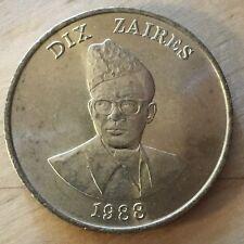 Zaire 1988 10 Zaires, KM-19, UNC (#z1)