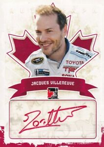 2011 IN THE GAME CANADIANA JACQUES VILLENEUVE RED VERSION AUTOGRAPH 1/1