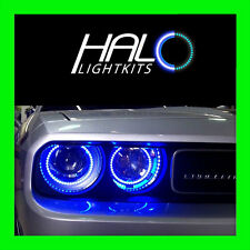 2008-2014 DODGE CHALLENGER BLUE LED HALO HEADLIGHT LIGHT KIT by ORACLE LIGHTING