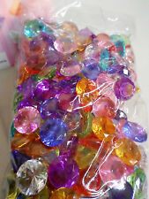 75 Pcs MULTI COLORED Diamond Table Scatter Confetti Decor Wedding Crystals 3/4""