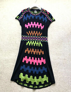 MISSONI Knit Dress Short Sleeve IT 46 UK 12 - 14 US 10 L Blouse Sweater Jumper