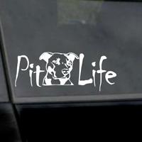 "6"" Pit Life Pitbull Sticker Vinyl Car Window Laptop Yeti Decal"