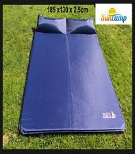 Self Inflating Air Camp Mattress Tent Bed. Waterproof Double size with Pillows