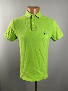 Ralph Lauren Mens Light Green Embroidered Logo Short Sleeve Polo Shirt Size S