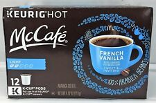 McDonalds McCafe French Vanilla Coffee K Cup Cups Keurig 12 ct