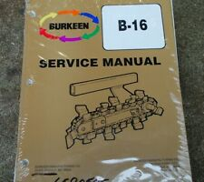 Bobcat T116 Walk Behind Trencher Service Manual repair shop maintenance book Oem