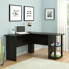 L Shaped Corner Desk Workstation Computer Home Office Executive PC Gaming Table