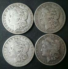 Lot of Four $1 Morgan Silver Dollars