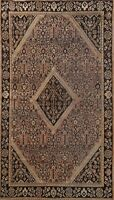Antique Geometric Traditional Area Rug Hand-knotted Wool Oriental Carpet 4x6 ft