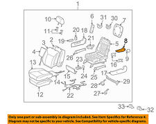 TOYOTA OEM 05-06 Sienna Front Seat-Armrest Right 7282008020E0