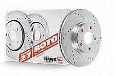 Hawk Sector 27 Rotor Set Front Drilled and Slotted For Acura Integra 90-01