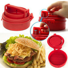 Hamburger Patty Mold Maker Burger Meat Grinder BBQ Grill Automatic Press Machine