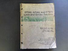 John Deere GT242,GT262,and GT275 Lawn & Garden Tractors Technical Manual  TM1582