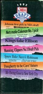 1992 NBA Draft Day Guide Booklet: Shaquille O'Neal/Alonzo Mourning/Sprewell