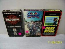 2 Harley Davidson Motorcycle VHS Tapes & 1 - Easy Rider Movie! FREE Shipping!