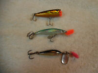 3 Lot Matzuo Rebel Floater Blue Fox 1 Fishing Lures 24-2PP
