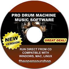 Midi Sequencer & Drum Machine Software Suite: Crea Professional Drum PATTERNS