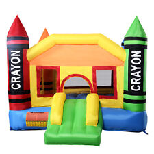 New Inflatable Crayon Bounce House Castle Jumper Moonwalk Bouncer Without Blower