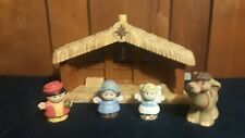 FISHER PRICE 77620 Little People Christmas NATIVITY SET With figures- Angel, etc