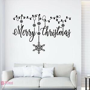 Christmas wall decorations, Snowflakes stickers with Merry Christmas, home decor