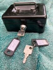 Money box black with keys