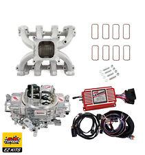 LS1 Carb Intake Kit - Edelbrock Victor Jr/MSD 6014 Ignition/Quickfuel 750 Carb