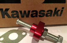 03-08 KAWASAKI KFX 400 - BILLET MANUAL CAM CHAIN TENSIONER KLX - USA- RED CNC-13