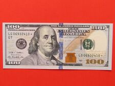 USA ( 2009 RARE GEM ) 100 DOLLARS REPLACEMENT STAR RARE BANK NOTE.MINT GEM UNC