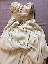 J.Crew Petite Size 0 Formal Dress Dusty Shale Silk Chiffon Bridesmaid Prom XS