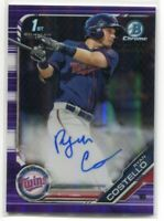 2019 Bowman Chrome Autographs Purple Refractor Ryan Costello Rookie Auto 59/250