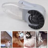 Electric Pet Hair Remover Brush Grooming Comb Dog Cat Fur Shedding Vacuum Clean
