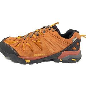 Merrell Capra Rapid Dark Rust Red Trail Hiking Shoes Waterproof Mens Sz 7.5 M