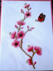 Papyrus Lori Weitzner Embroidered Butterfly & Flowers Birthday Greeting Card