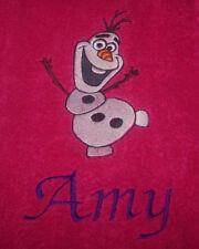 """""""Personalizado bordado en la OLAF Toalla de baño"""""""