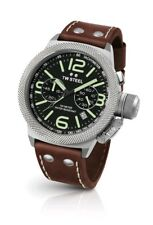 TW Steel Men's Watch Canteen Twcs23 Chronograph Leather Strap