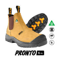 DuraDrive Men's CSA PRONTO 6 in. Wheat Nubuck Metal-Free Waterproof Work Boots