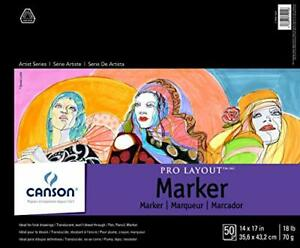 """Canson Artist Series Pro Layout Marker Pad 14"""" x 17"""" Fold-over Cover 50 Sheet..."""