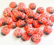 24 LADYBIRDS  EDIBLE SUGARPASTE ICING BIRTHDAY SUMMER PARTY CAKE TOPPERS