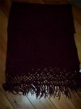Burgandy Chenille Wrap with Fringe by Outside Additions Large New with Tag